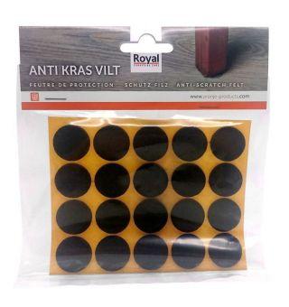 Zelfklevend Oravilt 17mm bruin