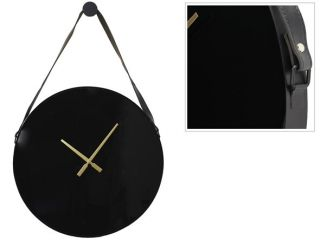 Klok Ortisei zwart Ø60cm