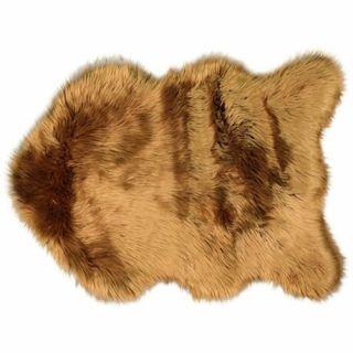 Vloerkleed Plinto leather brown