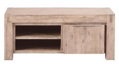 TV-meubel Salzburg (120 breedte) acaciahout smoked white brushed
