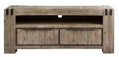 TV-meubel Bassano (144 breedte) acaciahout rough warm grey