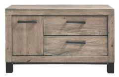 TV-meubel Hevano (102 breedte ) eikenhout moose