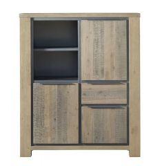 Opbergkast Robusto (120 breedte) acaciahout vintage grey