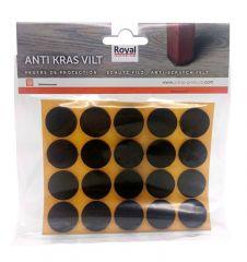 Zelfklevend Oravilt 22mm bruin