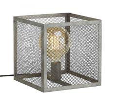 Tafellamp Ameiro raster oud zilver